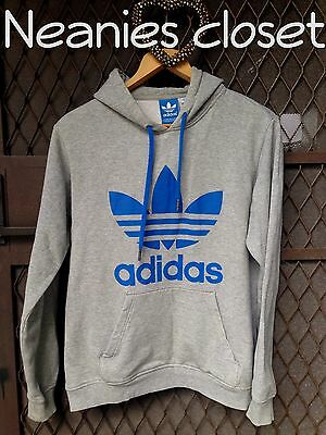 Adidas Hoodie Grey With Blue Adidas Logo Has Front Pockets Bargain Price So Cosy