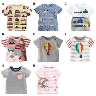 Lovely Baby Kids Boys Girls Short Sleeve Cotton T-Shirt Tee T-Shirt Cartoon Tops