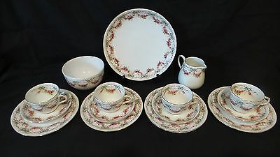 Vintage Crown Staffordshire 15 Pce Tea Set  Made For Griffiths Bros.