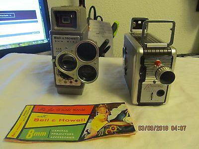 One Lot Of Vintage Bell & Howell And Brownie Movie Cameras