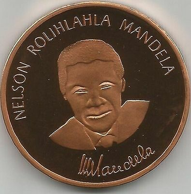 1 oz Nelson Mandela copper round. Uncirculated coin .999
