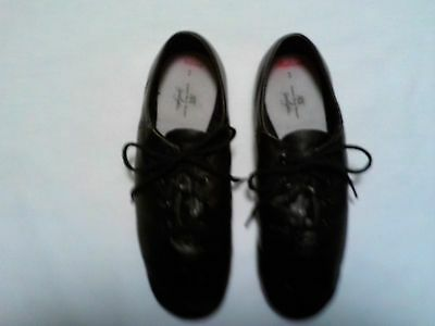Abt Girls Black Leather Dance Shoes  Size 3