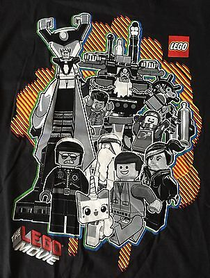 Licensed The Lego Movie - Youth Large 14/16 T-Shirt Black Graphic Tee