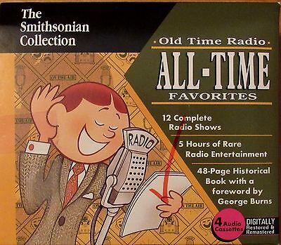 The Smithsonian Old Time Radio All Time Favorites 12 Radio Show Cassettes Burns