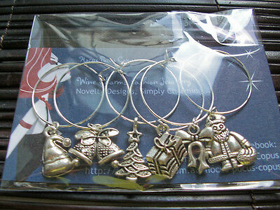 Merry Christmas Wine Glass Charms,Christmas Dinner. Great for a party