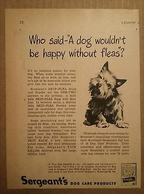 1948 Sergeants Dog Care Products Ad