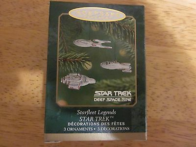 STAR TREK Hallmark Ornament Starfleet Legends 3 x Miniature Miniatures - 2001