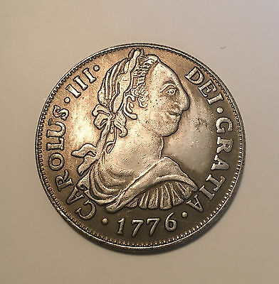 1776 - FM 8 reales mexico - Spanish Colonial Dollar  (8/01)