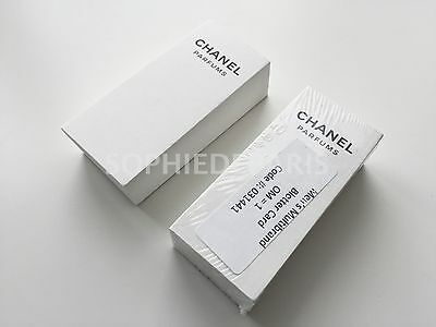 """100 Chanel Parfums sealed Perfume Blotter Test Strips 4"""" x 1.75"""" inches"""