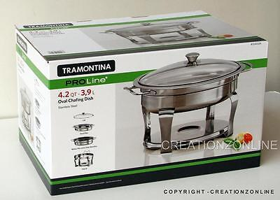Tramontina ProLine S/Steel Commercial Grade 4.2 Qt/ 3.9 L Chafing Dish Brand New