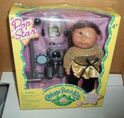 "Cabbage Patch Kids Doll Pop Star Brown Hair Brown Eyes 7"" Singer Doll"