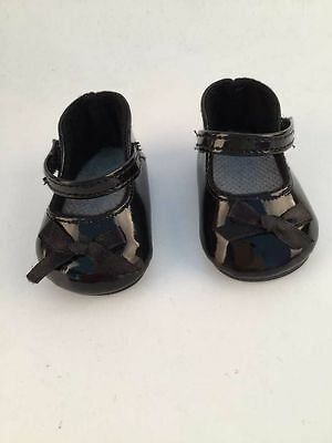 gift for kid fashion black shoes for 18inch American girl doll party b314