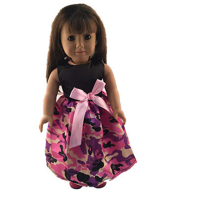 2016 fashion clothes dress for 18inch American girl doll party b169 b347