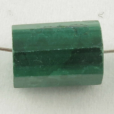 Real MALACHITE 10x7 mm Fancy Tube Loose Gemstone Beads 7.50 Cts Wholesale Offer