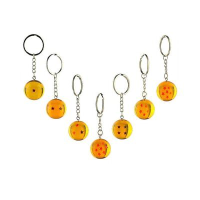 7pcs/set 2.5cm Dragon Ball Z New In Bag 7 Stars Crystal Balls Keychain Pendant