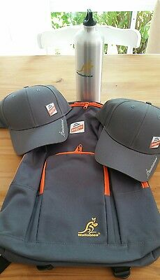Wallabies Caps, Drink Bottle and Backpack