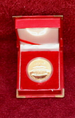 Gold Or Brass Coin-Boxed- From Shenyang - Northern China - Presented In 1990's