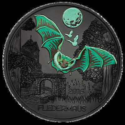 Austria 2016 - 3 Euro Coin BAT Glow on thje dark and change color