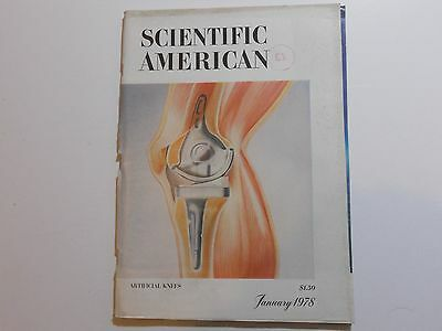 Scientific American Magazine: January 1978 Artificial Knees