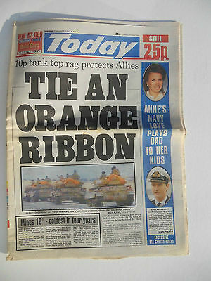 TODAY NEWSPAPER FEBRUARY 5th 1991 - FIRST GULF WAR
