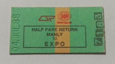 Queensland Railways Train Ticket Manly To Expo