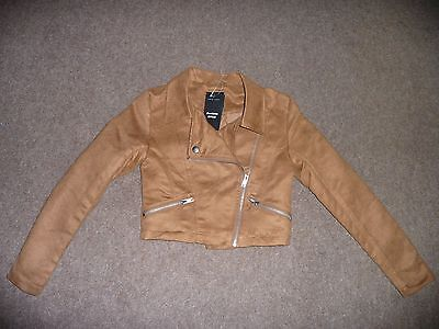 Bnwt Age 9 New Look Suedette Jacket