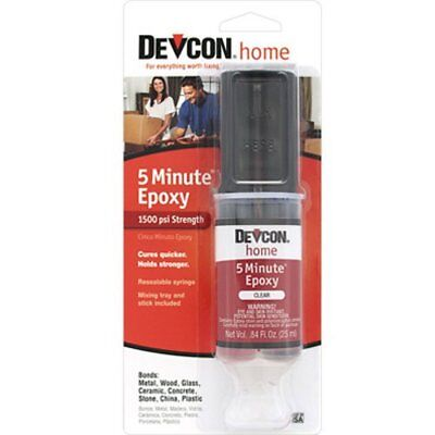 ITW Consumer/Devcon 20845 High Strength 5-Minute Epoxy with 25mL Syringe