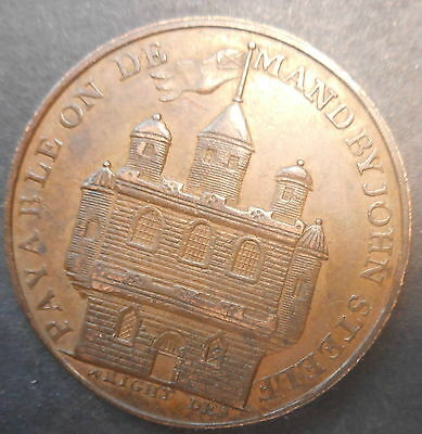 Great Britain 1797 ForFar - John Steele  Half Penny Token BETTER!!!