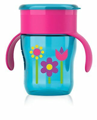 Philips Avent My Natural Drinking Cup, 9 Ounce, Pink/Purple/Blue, Stage 4