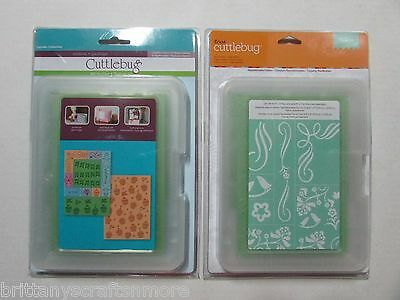 New Cuttlebug All-In-One Embossing Plates Folders