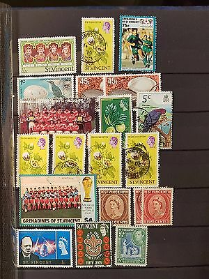 ST VINCENT Mixed Selected Stamps (No 1217)