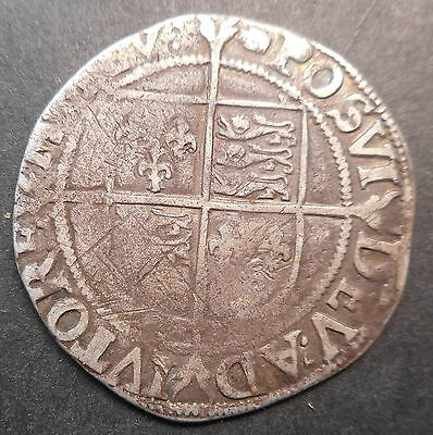 Great Britain 1582-1600  Elizabeth I  Hammered Silver Shilling  mm Woolpack