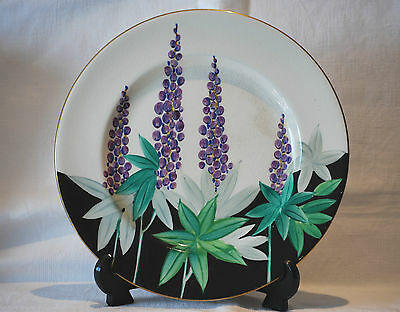 "Susie Cooper Art Deco Gray's Pottery ""Lupin "" Handpainted 27cm Plate c.1920's."