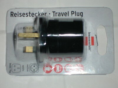 Brennenstuhl  Euro To Uk Travel Adaptor Earthed