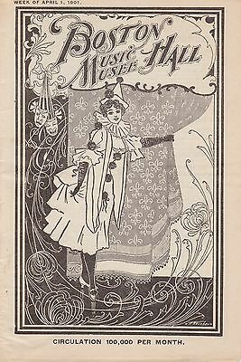 """""""Refined Vaudeville Acts"""" - Playbill - Boston Music Hall and Musee, 1901"""