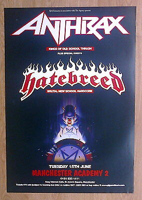 Anthrax / Hatebreed Tour Poster