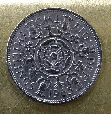 1965 Qeii Florin/2 Shilling Coin