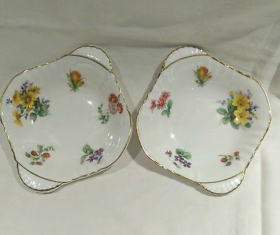 Vintage Royal Doulton Floral Trinket Trays Or Pin Dishes