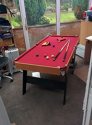 Hy-Pro 6ft Folding Snooker and Pool Table