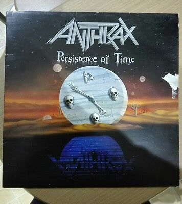 """Anthrax - Persistence Of Time - Ilps9967 - 12"""" Lp Vinyl -  Island Uk"""