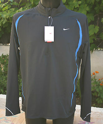 NEUF @@ T SHIRT MANCHES LONGUES SWEAT RUNNING HOMME + NIKE + S/M ou L