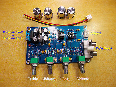 NE5532 Stereo Tone Control Board  Preamplifier Audio Amplifier Board 12-24VAC