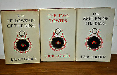 The Lord of The Ring trilogy 1st edition hardback