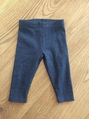 Next Baby Girl Blue Leggings Size 3-6 Months