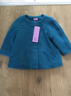 Baby Girl F&F Green Collarless Coat Size 9-12 Months BNWT