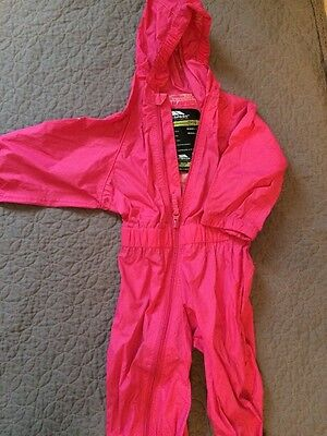 Trespass Girls All In One Waterproof/ Puddle-suit. Aged 6-12 Months