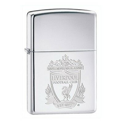 Official Liverpool Fc Windproof Zippo Lighters Stainless Steel Football Club Lfc