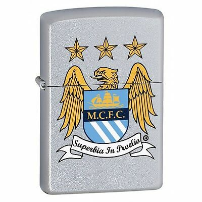 Official Manchester City Fc Stainless Steel Football Club Zippo Lighters Gifts