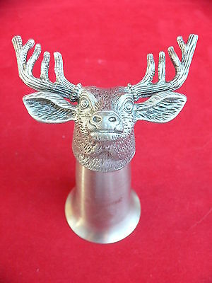 Jagermeister Pewter & Stainless Steel Stag Deer Head Jigger Shot Glass