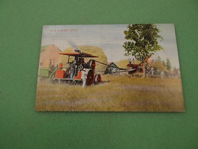 1911 Huber Traction Engine Advertising Postcard Steam Tractor